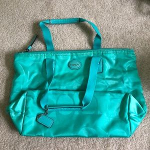 Coach Turquoise Purse and wallet